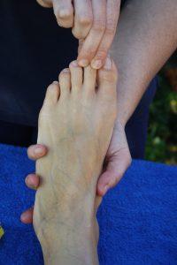 Fußreflexzonenmassage Zehen